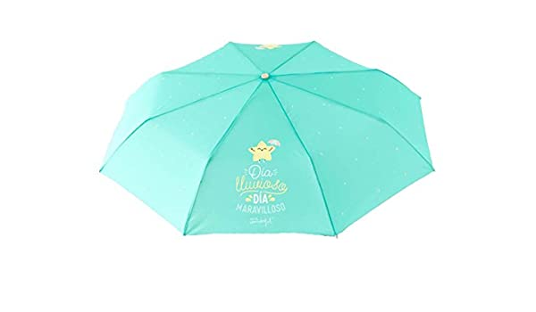"Paraguas plegable Mr. Wonderful ""Día lluvioso día maravilloso"