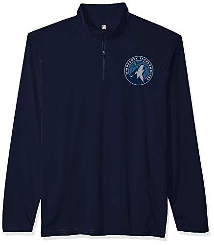 Ultra Game Adult Men Standard Quarter Zip Pullover Shirt Athletic Quick Dry Tee, Team Color, Medium