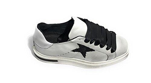 Scarpe Stella Zeppa Vintage col Donna WILD Fondo D18TW03 Bianco TONY Sneaker Pelle BqUn5W