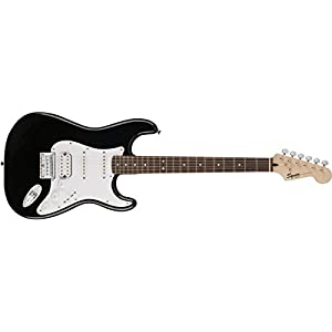 Squier Bullet Stratocaster H/S/S Hard Tail Electric Guitar – Black