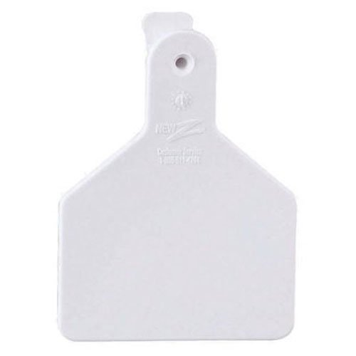 Z Tags 25 Count 1-Piece Blank Tags for Calves, White