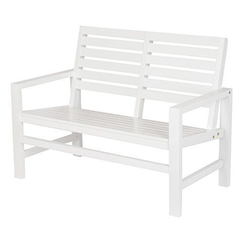 Shine Company 4224WT Contemporary Bench Garden, 40″, White