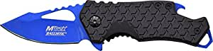 MTech USA MT-A882BL Spring Assist Folding Knife, Blue Blade, Black Handle, 3-Inch Closed