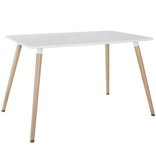 Beech Modern Desk - Modway Field Dining Table, White