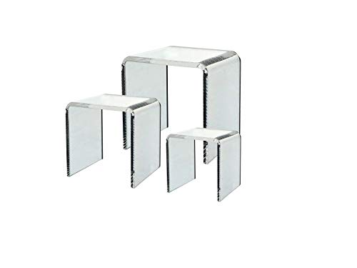 (Clear Acrylic Riser Set of 3 (3-Inch, 4-Inch,)