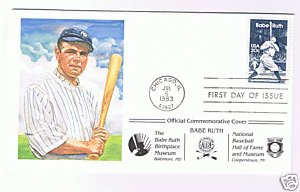 BABE RUTH FIRST DAY ISSUE ENVELOPE PEREZ-STEELE ()