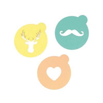 HIP - Topping plantilla de café bigote, renos & Corazón - Decora tu ...