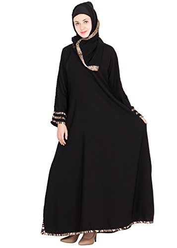 SNC-Black Colored Turkish Design Abaya -Fabric Georgette