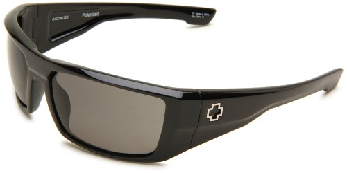 Spy Optic Unisex Dirk Polarized Shiny Black/Grey Polarized - Optic Spy Glasses