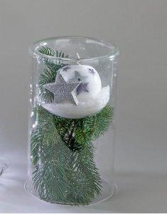 Weihnachtliche Deko Glas Leuchter Mit Einsatz Amazonde Küche