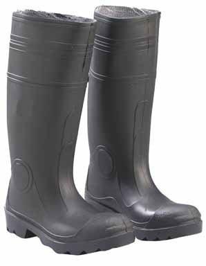 ONGUARD 87401 PVC Men's Buffalo Plain Toe Knee Boots with Lug Outsole, 16'' Height, Black, Size 6