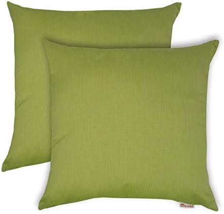 Olivia Quido Sunbrella Spectrum 20-inch Outdoor Pillow 2-Pack Kiwi