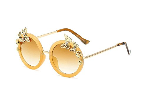 Butterfly sunglasses box bright color sunglasses (Gradient gold color, - Sunglasses Mens Hermes