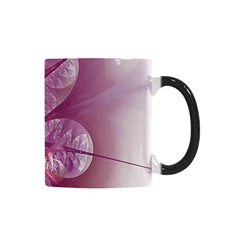 Spires Decor Utility Morphing Mug,Computer Rendered Abstract Fractal Flower Motif Gathered an Axis Polar Graphic Work for Home,10.3OZ