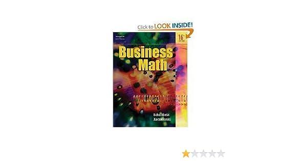 Business math 16th edition kaczmarski schultheis amazon books fandeluxe Choice Image