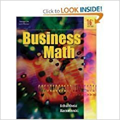 Business math 16th edition kaczmarski schultheis amazon books flip to back flip to front fandeluxe Gallery