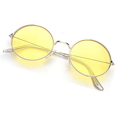 Buy Devew Round Unisex Sunglasses Yellow Round Sunglasses For Men And Women Yellow At Amazon In