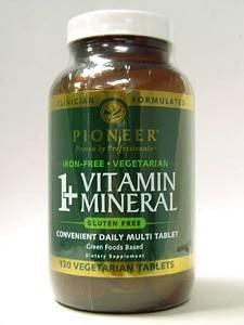 1+ витаминно-минеральных Утюг бесплатно без глютена Вегетарианская - 120 - Tablet