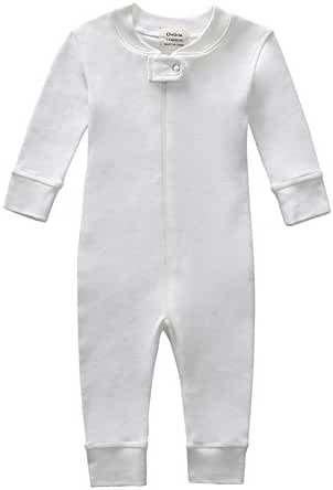 Owlivia Organic Cotton Baby Boy Girl Zip Up Sleep N Play, Footless, Long Sleeve (Size 0-18 Month)