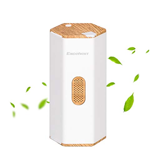 Excelvan Air Purifier with Ozone, Portable Ozone Generator, Odor Allergies Eliminator, Home Kitchen Air Cleaner, Ozone Machine for Car, Living Room, Refrigerator, Wardrobe, Shoe Cabinet, Toys