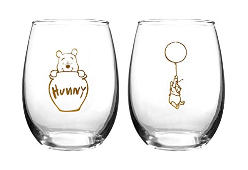 (Winnie The Pooh Collectible Wine Glass Set (Winnie))