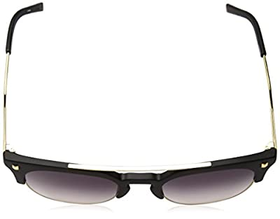Calvin Klein Unisex Ck3199s Retro Round Sunglasses, Matte Black, 52 mm