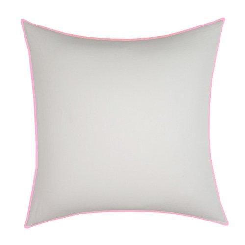 Edge Rosa y Blanco de la funda de almohada de sublimación de ...