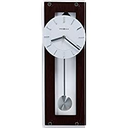 Howard Miller Emmett Contemporary Wall Clock 625-514 - Modern & Round with Pendulum & Quartz Movement