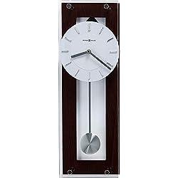 Howard Miller Emmett Contemporary Wall Clock 625-514 - Modern & Round with Pendulum & Quartz Movement