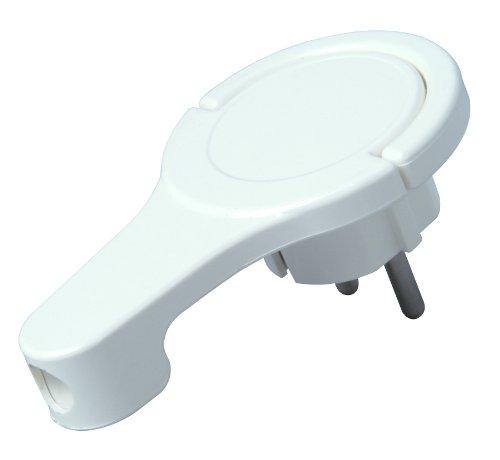 Kopp 172002037 Kunststoff-Schutzkontakt-Winkelstecker, extraflach, weiß
