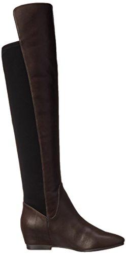 Nine West Tiberia de piel de la rodilla-alta de arranque Dark Brown/Black