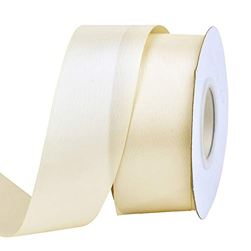 Ribest 1-1/2 inch 25 Yards Solid Double Face Satin Ribbon Per Roll for DIY Hair Accessories Scrapbooking Gift Packaging Party Decoration Wedding Flowers -