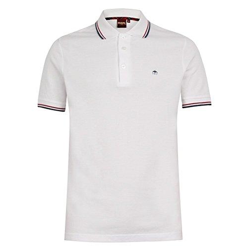 MERC weiß mit LONDON-Poloshirt, Kontraststreifen an Kragenkante Größen: S-XXL