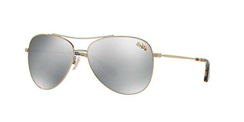 Coach Womens Sunglasses Gold/Silver Metal - Polarized - - Coach Polarized Sunglasses Aviator