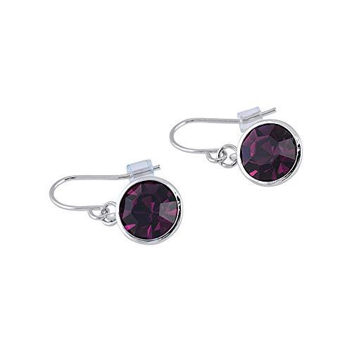 Casual Purple Earrings (UPSERA Drop Dangle Earrings Made with Swarovski Crystals - Jewelry for Women Girls - Purple Amethyst)