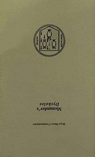 Dyskolos  Bryn Mawr Commentaries  Greek