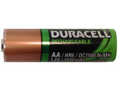 Pack of 20 Duracell DC1500 2450 mAh NiMH AA Rechargeable Battery - Bulk Pack - with FREE Clear Battery Storage Holder Case
