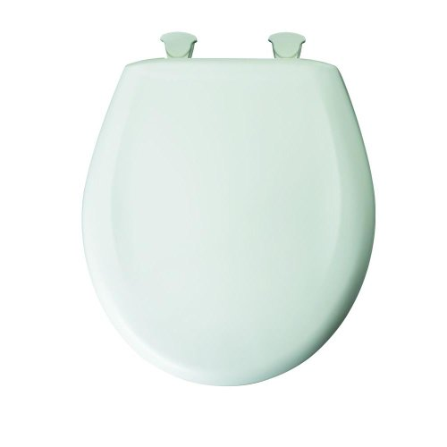 Bemis 7M201SLOWA 000 Slow Close Sta-Tite Round Closed Front Toilet Seat, White high-quality