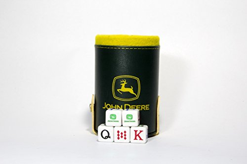 John DeereエレガントDice Cup withストレージコンパートメント。5Engraved Poker Diceの商品画像