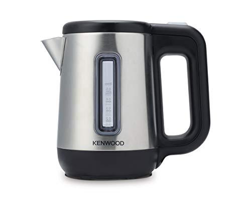 Kenwood JKM076 - Hervidor de agua electrico para viaje, 670 - 800 W, 0 5 L de capacidad, apagado auomatico, tapa de seguridad, negro/plata