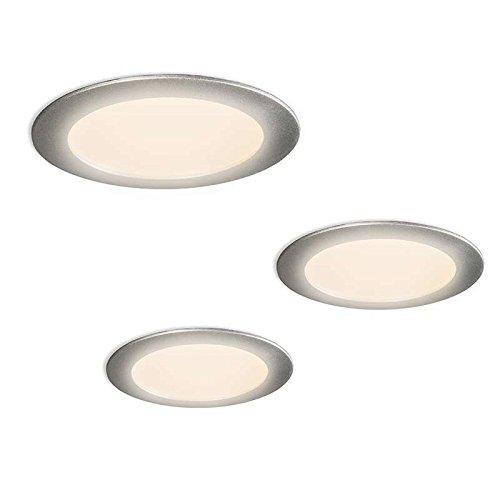 modern spot lighting. Diverse Modern Spot Lights Radem Kit LED 3 Grey Aluminium / Polyester Round Includes Lighting