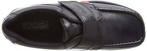 Mokassins Fragma Noir black Kickers Single 0001 Garçon Strap Leather w7UIUq