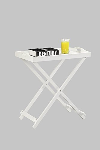 Designs 2 Go Folding Tray Table, White