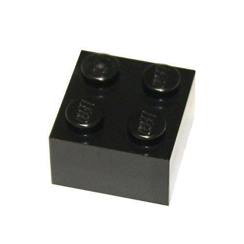 LEGO Parts and Pieces: 2x2 Black Brick - 2x4 Lego