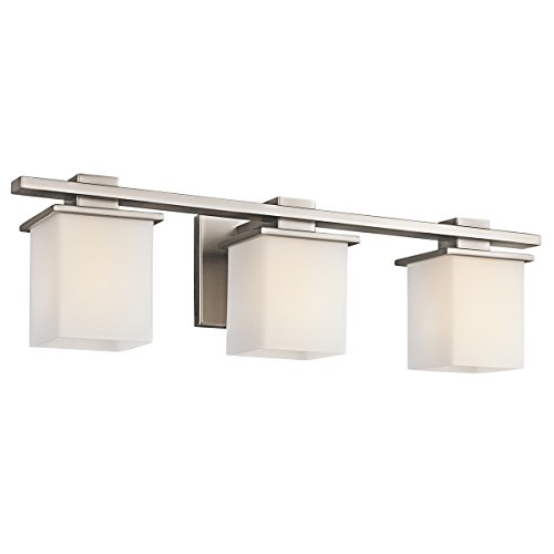 Kichler 45151AP Tully 3-Light Bath Wall Mount in Antique (Antique Pewter 1 Light)