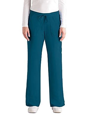 Greys Anatomy Junior Fit Cargo Scrub Pant BAHAMA SM - Elastic Cargo Scrub Pants