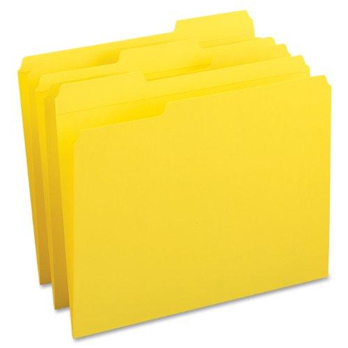(Smead File Folder, Reinforced 1/3-Cut Tab, Letter Size, Yellow, 100 per Box (12934))