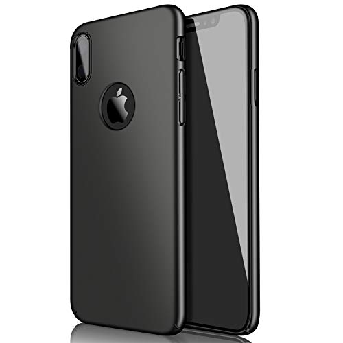 Eartonx Slim Fit Shell, Hard Plastic PC Ultra Thin Mobile Phone Cover Case Compatible for iPhone X (5.8)(2017) (Matte Black)