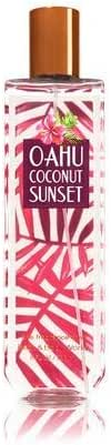 Bath and Body Works Oahu Coconut Sunset Fine Fragrance Mist 8 Ounce Orange Bottle