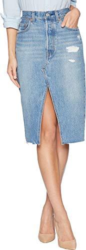 (Levi's Women's Deconstructed Long Skirt, Original Sinner, Blue, 24)